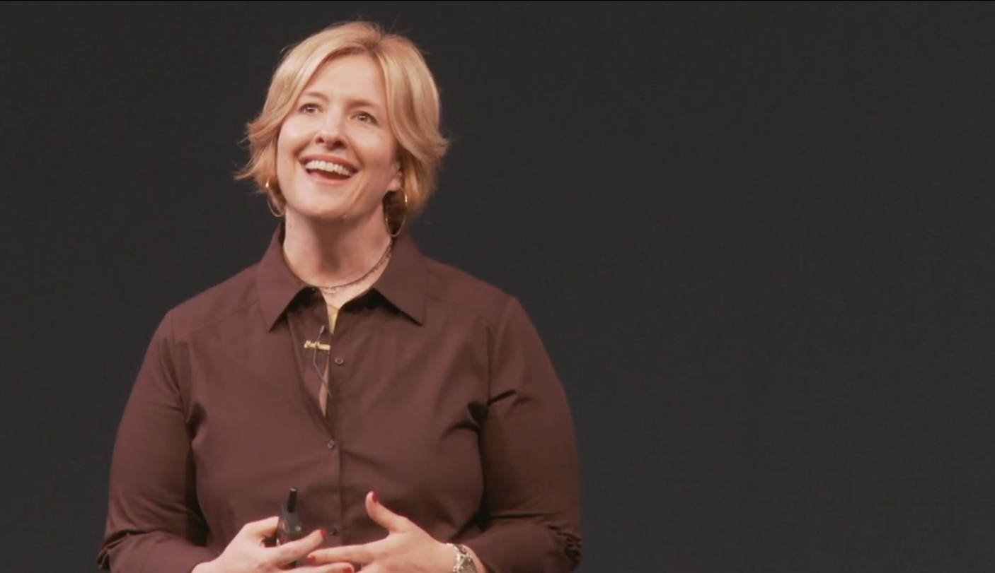 "Screenshot aus dem TED Talk Brene Brown ""Ich bin genug."""
