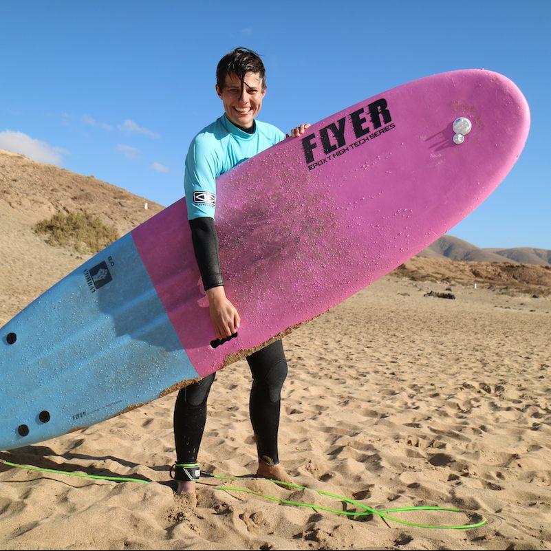 Wie ich ein Surfbrett trage