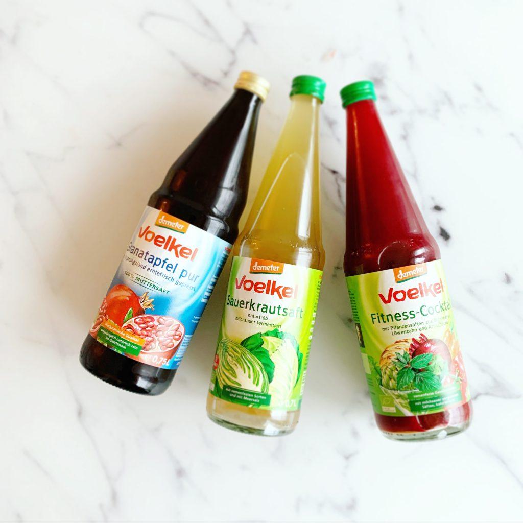 Voelkel Saftflaschen für das Fasten nach Buchinger